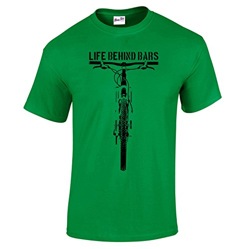 Men's MTB Life Behind Bars Mens Mountain Biking T Shirt Green M
