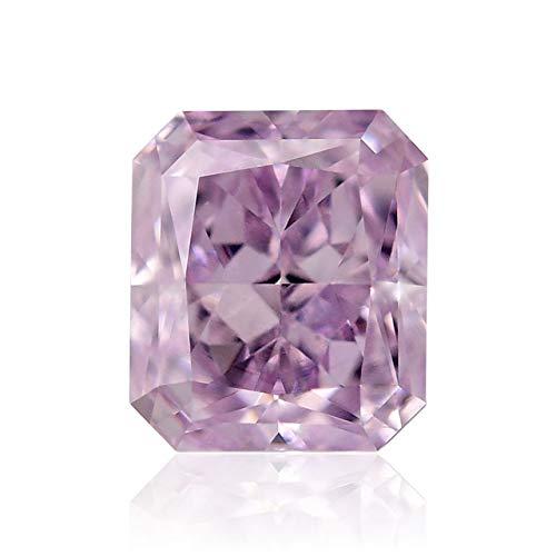 Leibish & Co 0.27 Carat Fancy Purplish Pink Loose Diamond Natural Color Radiant Cut GIA Cert