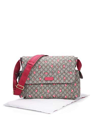 Gucci Rosebud Print GG Canvas Diaper Bag Beige Multicolor Girl Baby Italy New ()