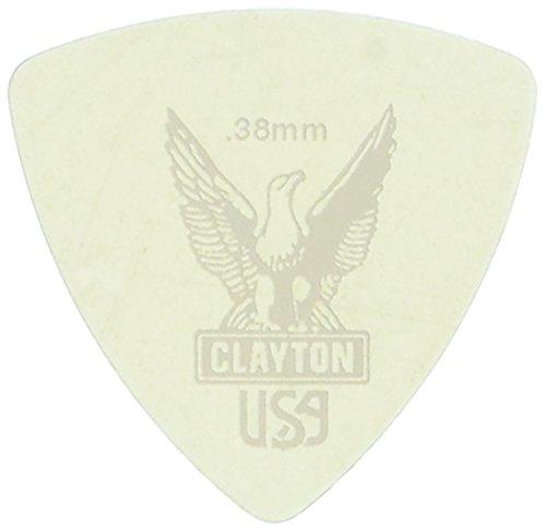 Pick Clayton Ultem Triangle (Clayton URT38 Ultem Gold Round Triangle Picks .38 mm - 48/Pack)