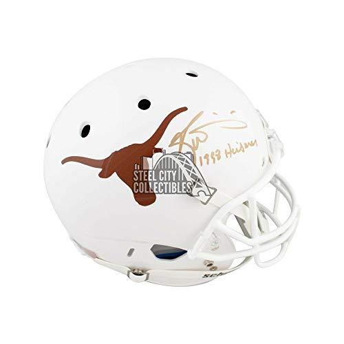 (Ricky Williams Heisman Autographed Signed Memorabilia Texas Longhorns Full -Size Football Helmet - JSA Authentic)