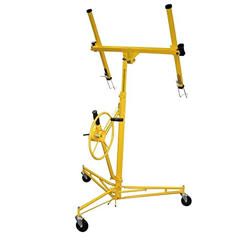 PRO-SERIES-Heavy-Duty-Drywall-and-Panel-Hoist-Lifts-up-to-16-Ft-Long-with-Built-in-Rolling-Casters