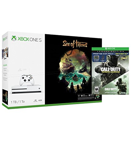 Microsoft Sea of Thieves Xbox One S 1TB Console and Call of Duty: Infinite Warfare Legacy Edition Prestige Icon Pack Bundle