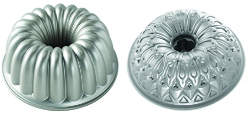 Party Bundt - Set of 2 Nordic Ware Cake Elegant Party and Stained Glass Bundt Pans