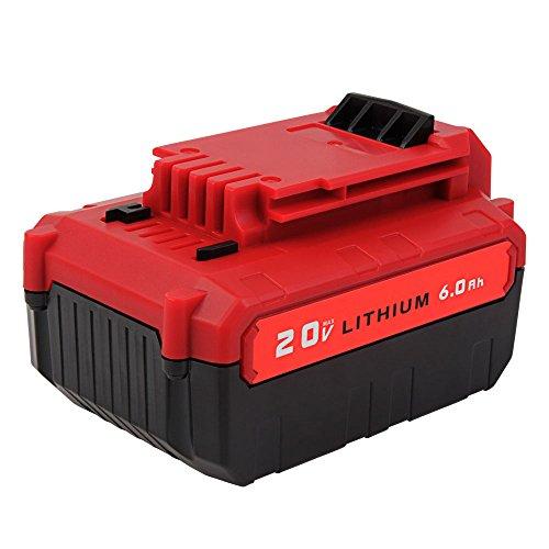 MASIONE 20v Max 6.0Ah PCC685L Lithium Battery for Porter Cable PCC685LP PCC680L PCC682L Cordless Power Tools High Capacity Batteries