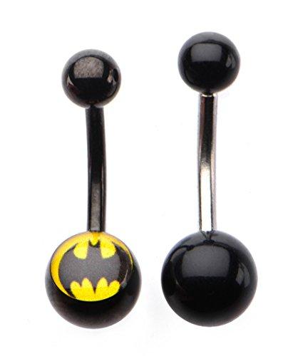 DC+Comics Products : DC Comics Batman 14g 7/16 Navel Pack 2 Piece Set