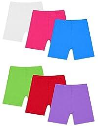 Resinta - Conjunto de 6 Pantalones Cortos de Baile, Transpirables y de Seguridad, 6 Colores