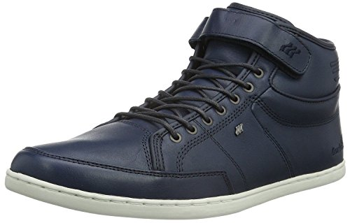Boxfresh Swich Prem ICN Navy White Mens Leather Half Cab Trainers