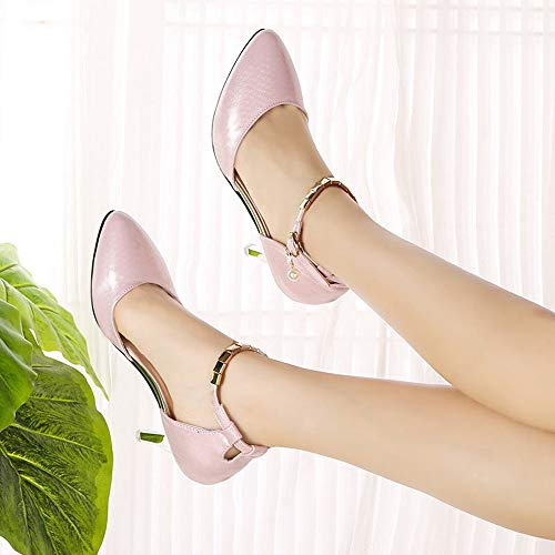 Cheville À Pointu Talons Sandales Elegant Moika Chaussures Uniques Rose La Soiree nbsp;chic Petits Bout Tendance Femme Sexy Escarpins xwnvqRfI