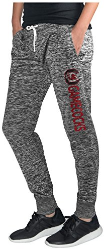 GIII For Her NCAA South Carolina Fighting Gamecocks Women's Sideline Skinny Pants, Large, Heather Grey