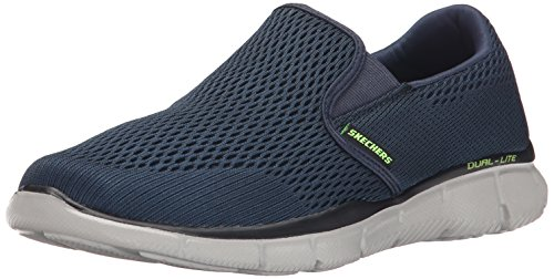 Skechers Sport Men's Equalizer Double Play Wide Slip-On Loafer, Navy, 10.5 2E US 51509W