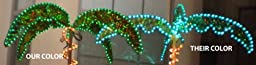 EEZ RV Products - Tropical Holographic LED Rope Lighter Palm Tree - 7 foot high