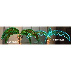EEZ RV Products Outdoor Lighted Palm Tree - 7' Holographic Rope Light Decoration for Indoor and Outdoor Use 6