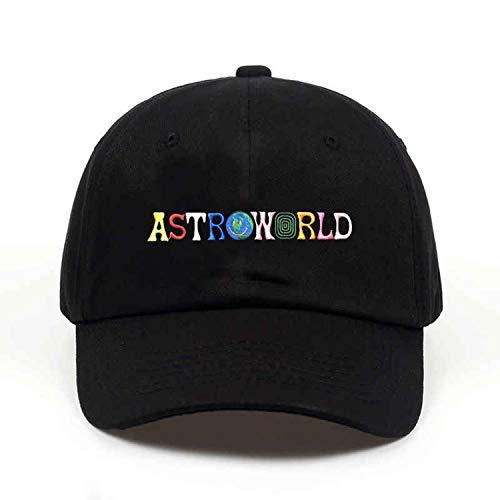 コットン 野球のキャップ 刺繍 男性女性,アストロワールド黒