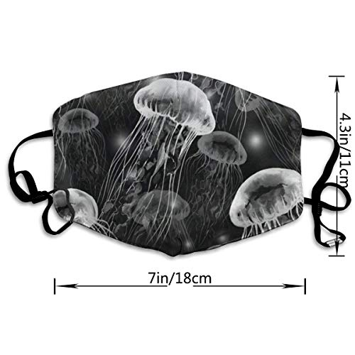 Dust Mask Magical Jellyfish Face Mask Cover Anti-dust Reusable Windproof Half Face Mouth Warm Masks for Ski Bicycle Cycling Motorcycle Women Men