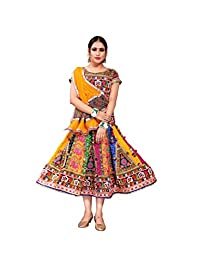 Mirchi Fashion Navratri Short Readymade Lehenga Choli (N211_Multicolor,Free Size)