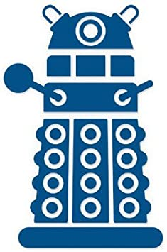 Amazon Com Doctor Who Dalek And Tardis Vinyl Die Cut Decal Sticker 6 Black Everything Else