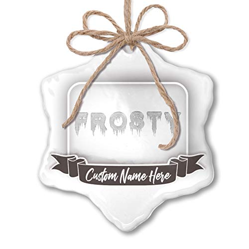 NEONBLOND Create Your Ornament Frosty Icicles Cold Winter Ice Personalized (Ornament Frostys Favorite)