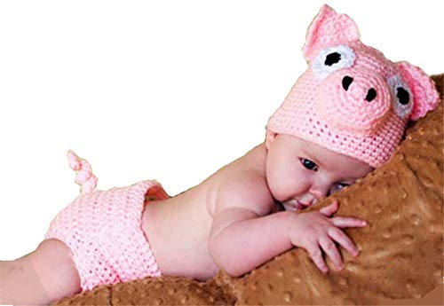 2019 Newborn Baby Photography Props Crochet Costume Hat and Pants Outfits Toddler Photoshoot Sets Pink