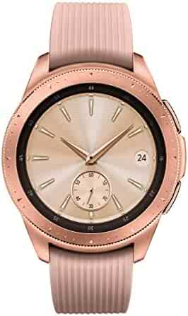 Samsung Galaxy Watch (42mm) Rose Gold (Bluetooth), SM-R810NZDCXAR - BUNDLE W/ Extra Dock (Certified Refurbished)