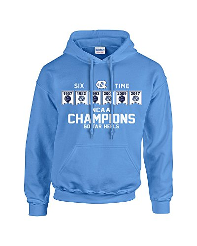 North Carolina Tar Heels 2017 National Basketball Champs Hooded Sweatshirt Blue