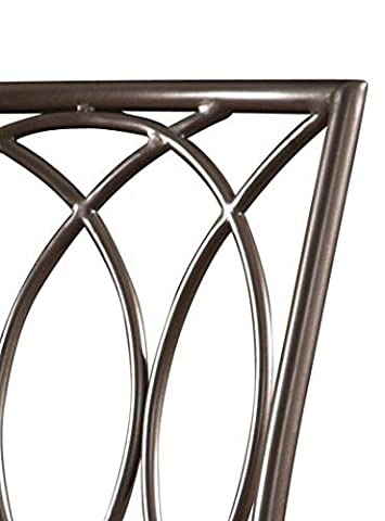 Powell 586-851 Big and Tall Metal Crossed Legs Bar Stool Multicolor