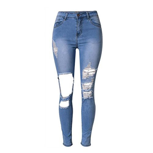 Disco Con In Pantalone Denim Womens Stretto Light Raso Blue Zip Sottili Tasca Wgwioo Jeans Pantaloni wUBqRR