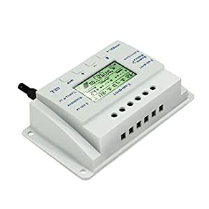 Y-SOLAR Solar Charge Controller 20A Dual Timer with LCD Display For 12V/24V Solar Power System with 5V Mobile Charger