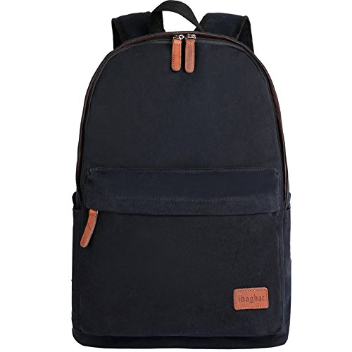 Ibagbar Classic Canvas Backpack Black