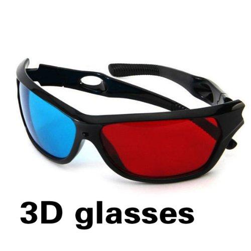 ACE Red Blue Plasma TV Movie Dimensional Anaglyph Framed 3D Vision Glasses