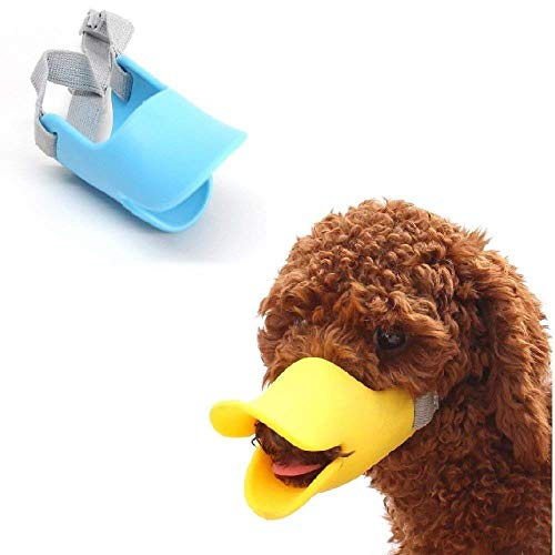 - Hamiledyi Dog Mouth Cover Duck Mouth Shape Anti-bite Muzzle(Pack of 2) (S)