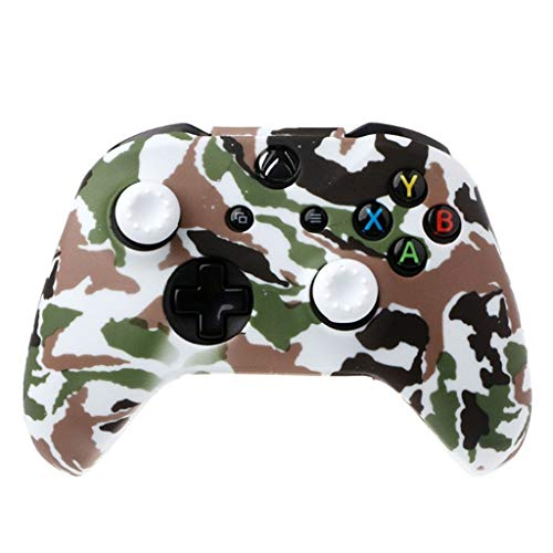 Price comparison product image Shaoshao,  Silicone Rubber Skin Case Gel Protective Cover for Xbox One Wireless Controller (E)