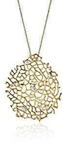 "Alex Woo ""Narissa"" Diamond and 14k Gold Small Fan Necklace, 16"""