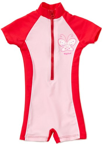 Playshoes Girl's UV Sun Protection All-in-One Butterfly Swimsuit, Pink (Original), 12-18 Months (Manufacturer Size:86/92 (12-24 Months))