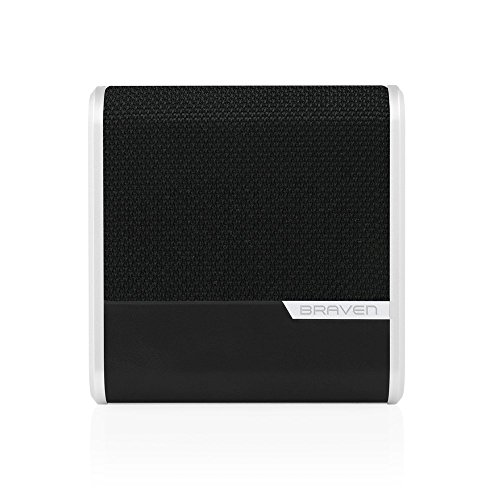BRAVEN Bridge Bluetooth Speaker and Conferencing Device [12 Hours Playtime] 2600 mAh Power Bank - Gray / Black / Silver by Braven (Image #1)