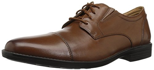 Bostonian Men's Birkett Cap Oxford, Dark tan Leather, 090 W US