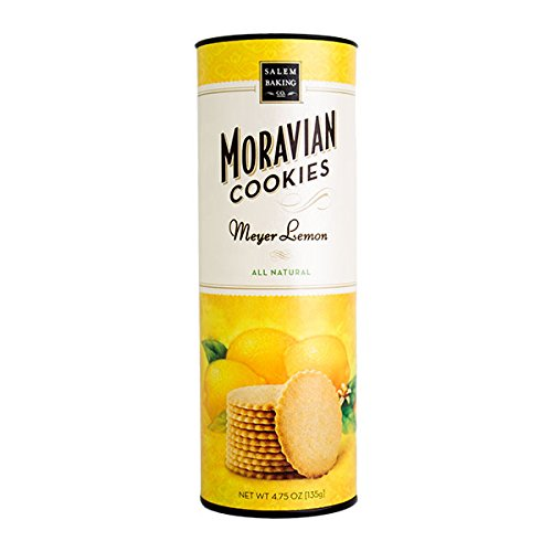 Salem Baking Company Moravian Meyer Lemon Cookies,  4.75 Ounce Tube