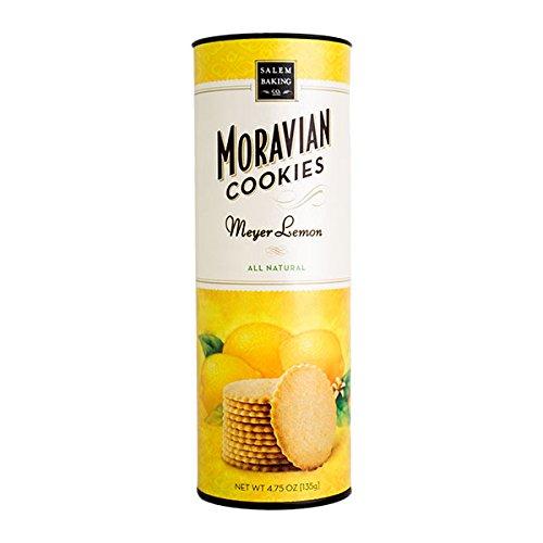 Salem Baking Company Moravian Meyer Lemon Cookies,  4.75 Ounce Tube