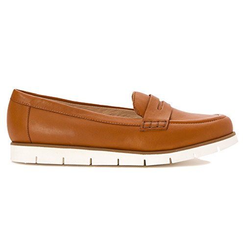 French Sole Fs / Ny Mujeres Oriole Penny Loafer Cognac Softy Cipria