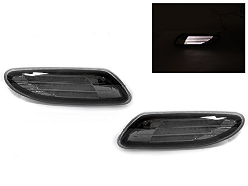 DEPO 2001-2007 Mercedes W203 C Class Smoke White LED Light Bar Bumper Side Marker Lights
