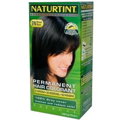 Brown Black Kit 2n (Naturtint 2N Permanent Black Brown Haircolor Kit, 5.45 Ounce - 3 per case.)