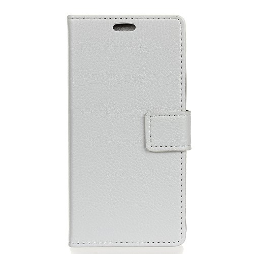 White 6060 Corner - AICEDA Xiaomi Redmi 5 Wallet Case, Stylish Slim PU Leather Excellent Stand and Card Holders Wallet Phone Cover PU Leather Protective Case for Xiaomi Redmi 5 -White