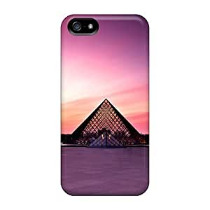 LastMemory Case Cover Skin For Iphone 5/5s (louvre Museum At Sunset)