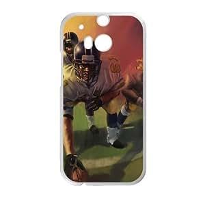 Football funda HTC One M8 caja funda del teléfono celular del teléfono celular blanco cubierta de la caja funda EVAXLKNBC22781