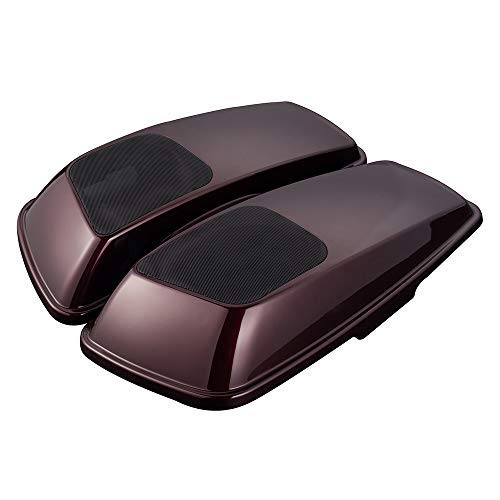 (Advanblack Twisted Cherry 6 x 9 inch Saddlebag Speaker Lids Audio Cover Fit for Harley Touring Road Glide Street Glide Road King Special Hard Saddle Bags 2018 2019)