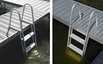 4 Step Fixed Aluminum Pontoon Dock Swimming Pool Ladder