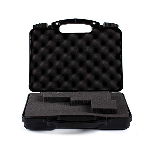 - Daoe NWT110 Lockable Hard Pistol Gun Case with Pluckable Foam, TSA Approved