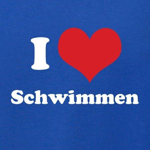 I Love Schwimmen - Herren T-Shirt - Royalblau - M