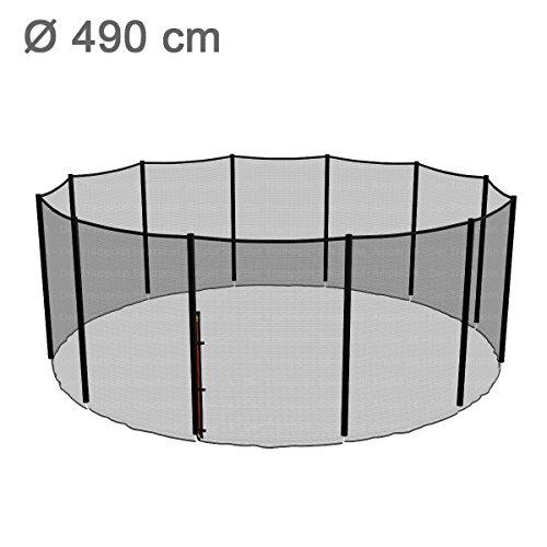 Ampel 24 Trampolin Sicherheitsnetz | Ersatznetz 490 cm für 12 Pfosten | UV-beständig | extrem reißfest | Netz außenliegend