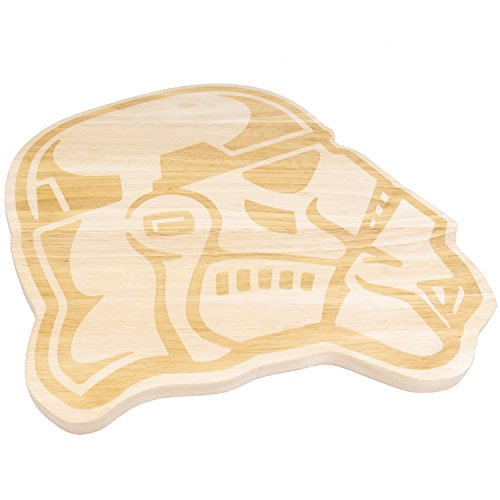 Star Wars Stormtrooper Wood Cutting Board - Perfect for Serving and Parties - 12 1/2'' x 13'' by Star Wars (Image #2)
